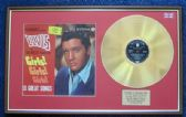 Elvis Presley - 24 Carat Gold Disc and Cover - Girls,Girls,Girls
